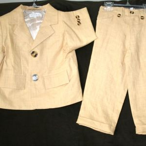 Trish Scully Child Boy's Suit Set Sz 2T NWT Yellow